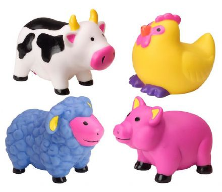 Alex Bath Toys - Farm Animal Water Squirters